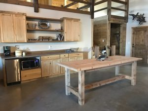 farmhouse-lodge kitchen cabinets